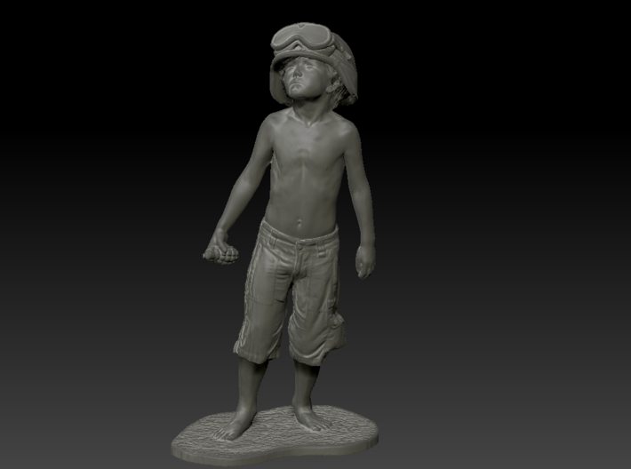 Schoony - Boy Soldier (10cm Tall) 3d printed