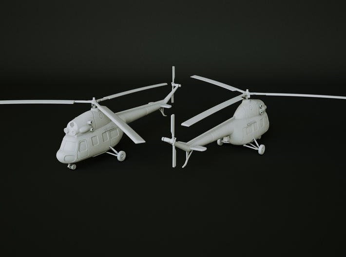 Mil M-2 Helicopter Scale: 1:87 3d printed