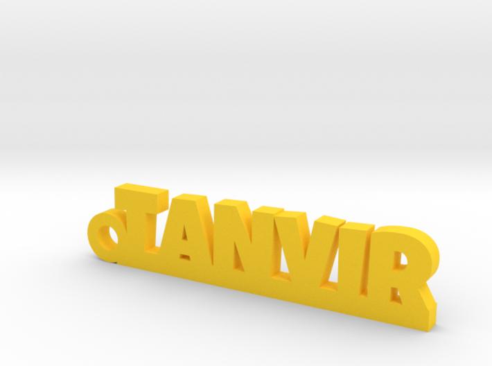 TANVIR_keychain_Lucky 3d printed