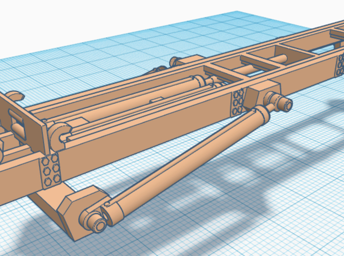 1/87th Roll Off Truck Body frame 3d printed
