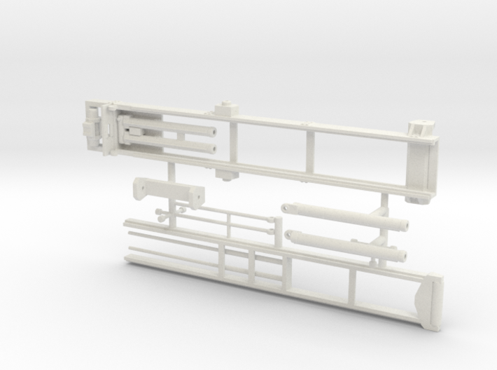 1/50th Roll Off Truck Body frame 3d printed