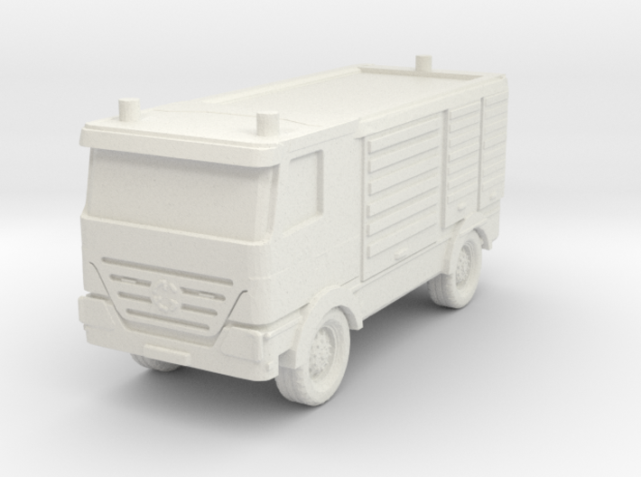 Mercedes Actros Fire Truck 1/76 3d printed