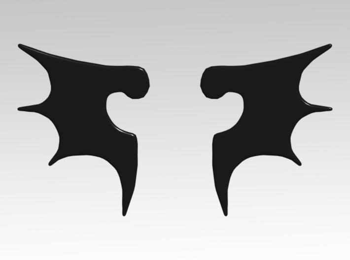 Bat Wing Vehicle Icons x32 3d printed Product is sold unpainted.
