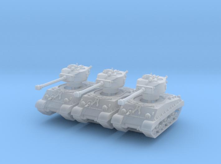 M4A3E8 Sherman 76mm (sandshield) (x3) 1/200 3d printed