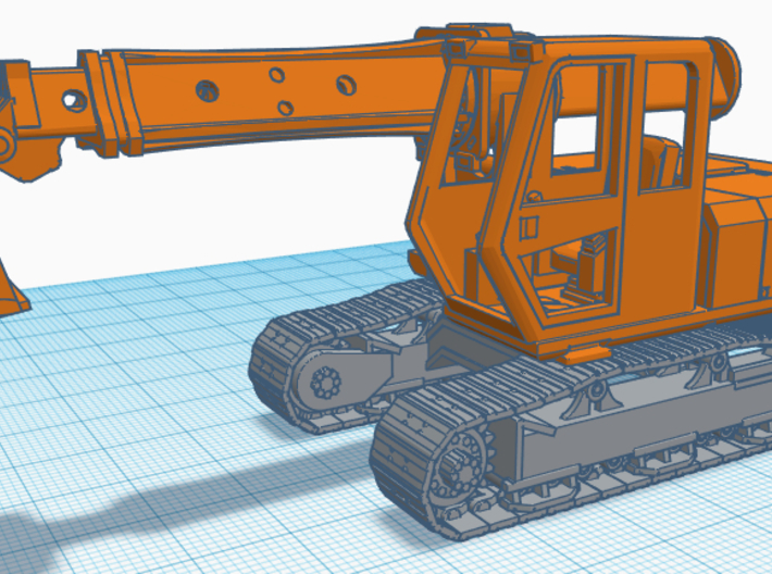 1/64th Track undercarriage for Gradall Excavator 3d printed Shown with gradall body, available separately