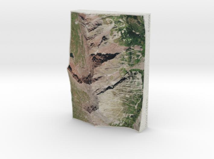 Maroon Bells, Colorado, USA, 1:50000 3d printed
