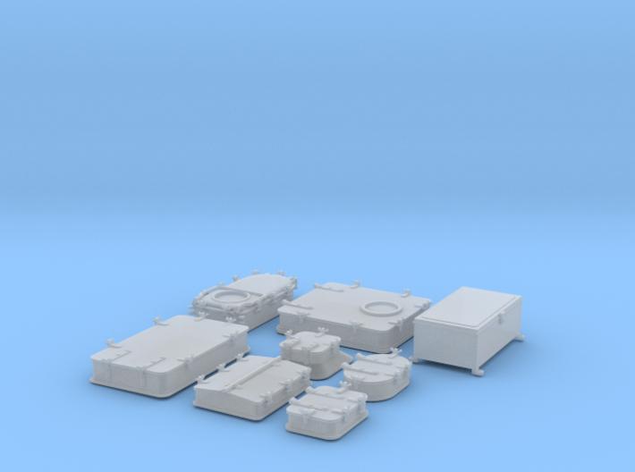 1/100 IJN Yamato Deck Hatches SET 3d printed
