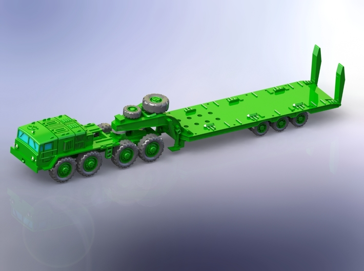 MAZ 537G late w. CHmZAP 9990 Trailer 1/144 3d printed