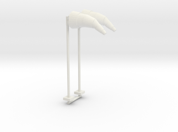 Airport Windsock and Pole (x2) 1/100 3d printed