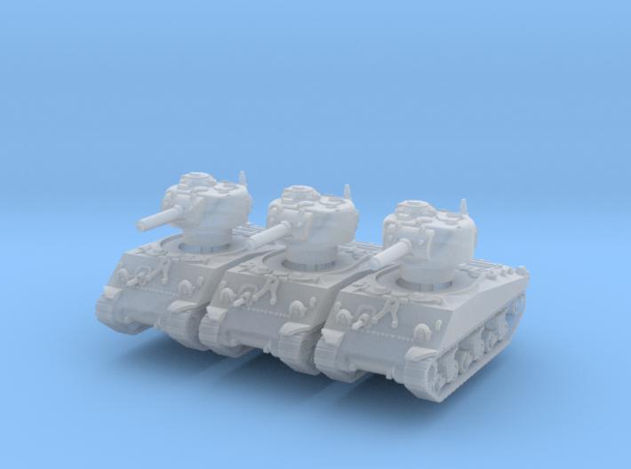 M4A3 Sherman 105mm (x3) 1/220 3d printed