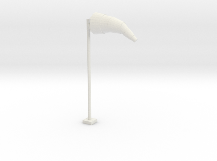 Airport Windsock and Pole 1/48 3d printed