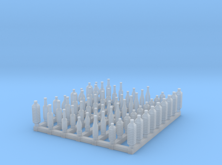 Bottles 1/87 scale 3d printed