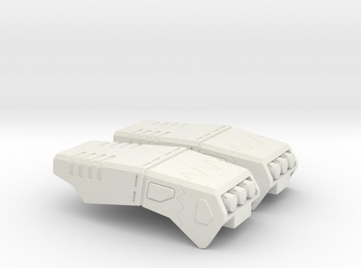 POTP SS GBP Armor - Arm missle launchers 3d printed