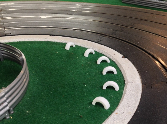 1/32 Slot Car Half Tire boundry ~ Scenery 3d printed