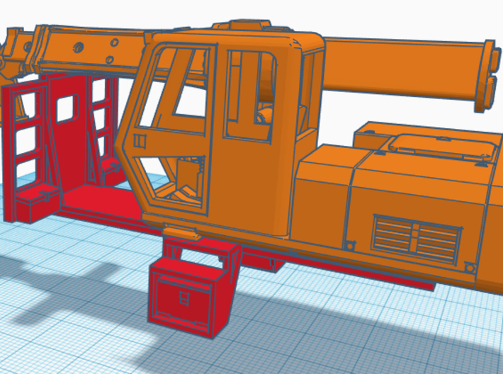 1/50th Truck mount Flatbed for Gradall Excavator 3d printed