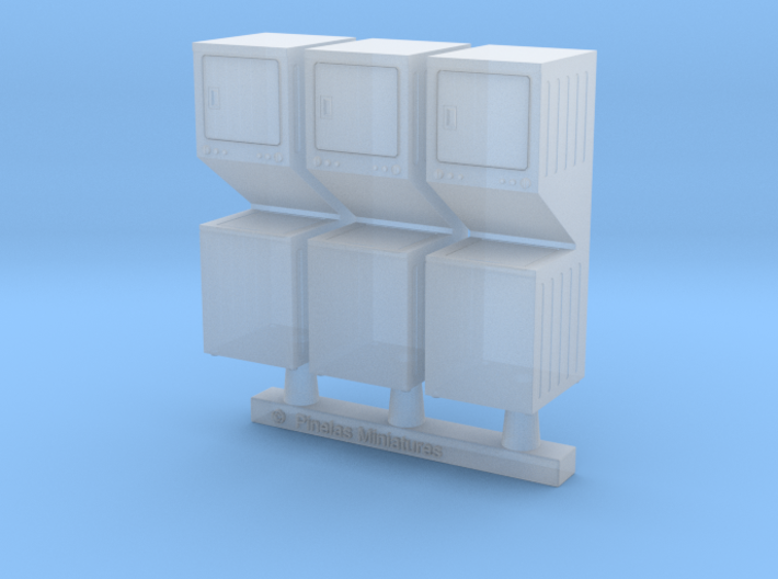 Washer Dryer Combo 01. 1:87 Scale 3d printed