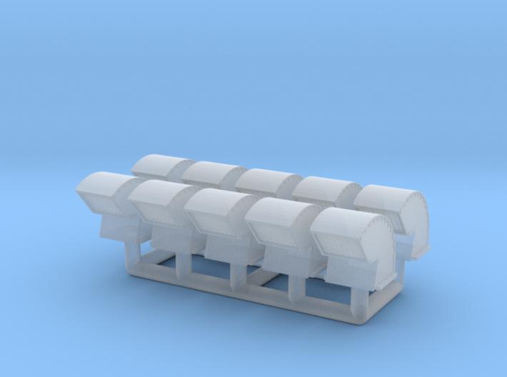 Gooseneck Exhaust Vent 01. 1:87 Scale 3d printed