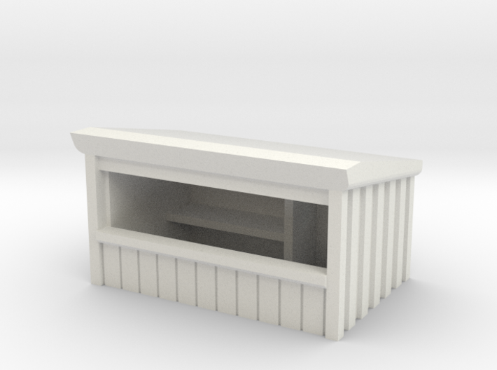 Wooden Market Stall 1/87 3d printed