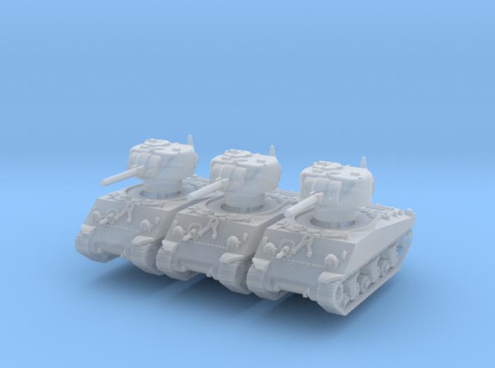 M4A3 Sherman 75mm (x3) 1/285 3d printed