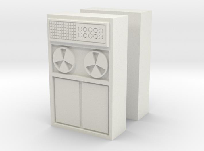 Old Computer Bank (x2) 1/76 3d printed