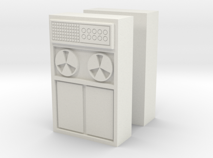 Old Computer Bank (x2) 1/72 3d printed