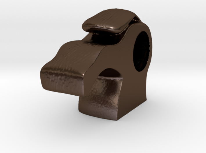 Donkey armoire handle - back 3d printed