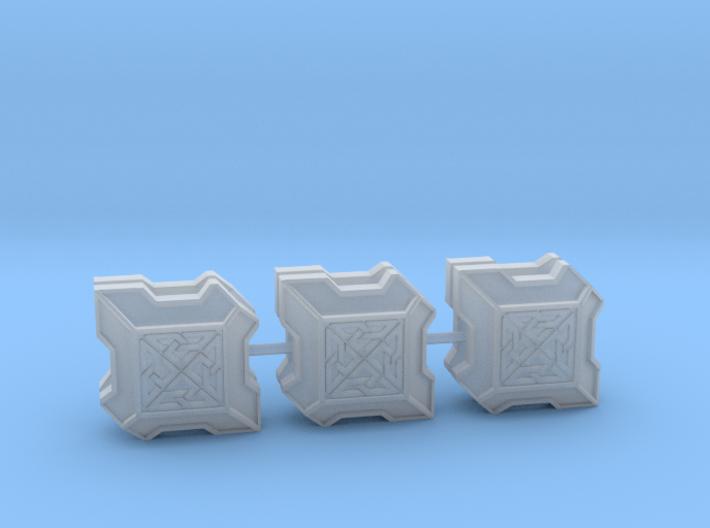 Dwarven Shield Square x6 3d printed
