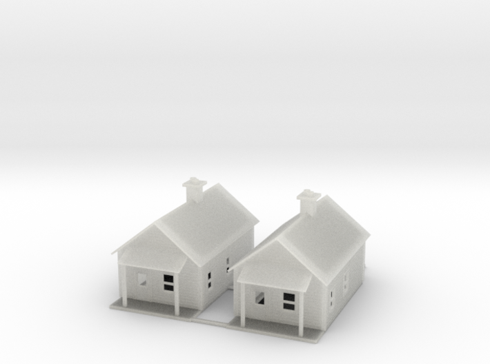Lumber House 3d printed Logging Houses Z scale
