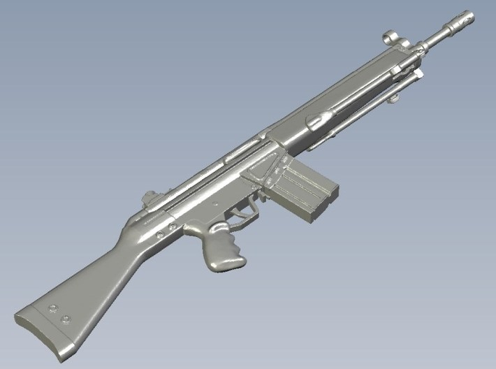 1/12 scale Heckler & Koch G-3A3 rifle A x 1 3d printed
