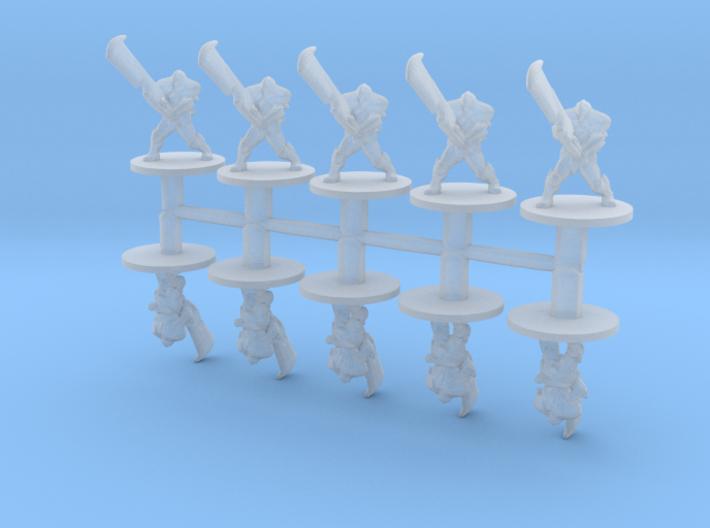 Blademasters 6mm Infantry Epic fantasy rpg models 3d printed