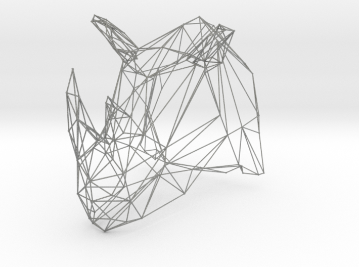 Rhino Wire Trophy 3d printed