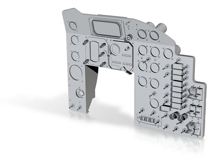 Mercury Main Instrument Panel MA-6 1/12 Scale 3d printed