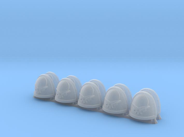 Strategicum pattern Shoulder Pads: Gullen Ragan 3d printed