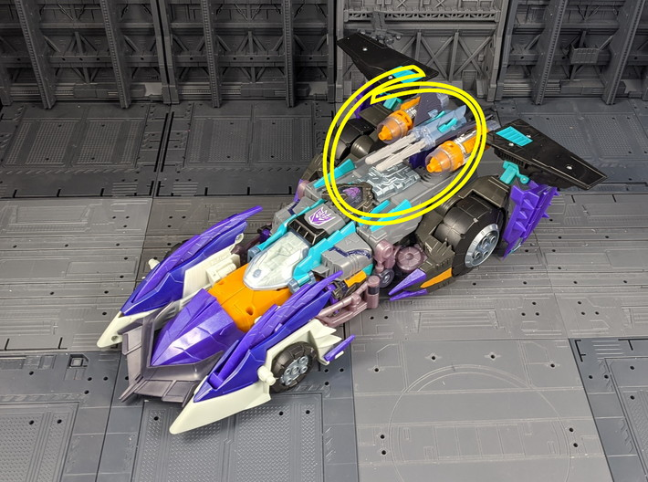 TF Cybertron Megatron Missile Replacement Set 3d printed