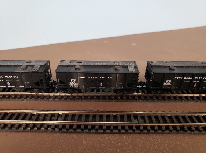 """""""N Scale"""" Northern Pacific Sand Car Roof insert 3d printed Kim Saign models"""