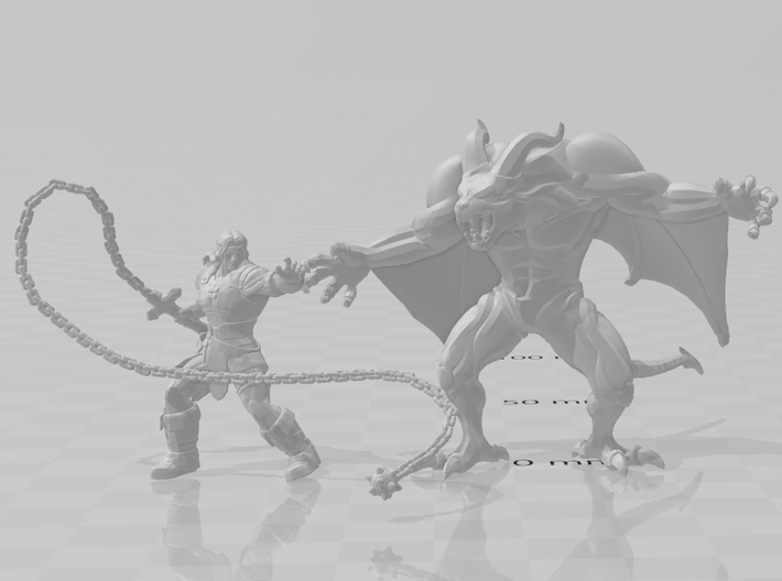 Castlevania Dracula Demon 45mm DnD miniature games 3d printed