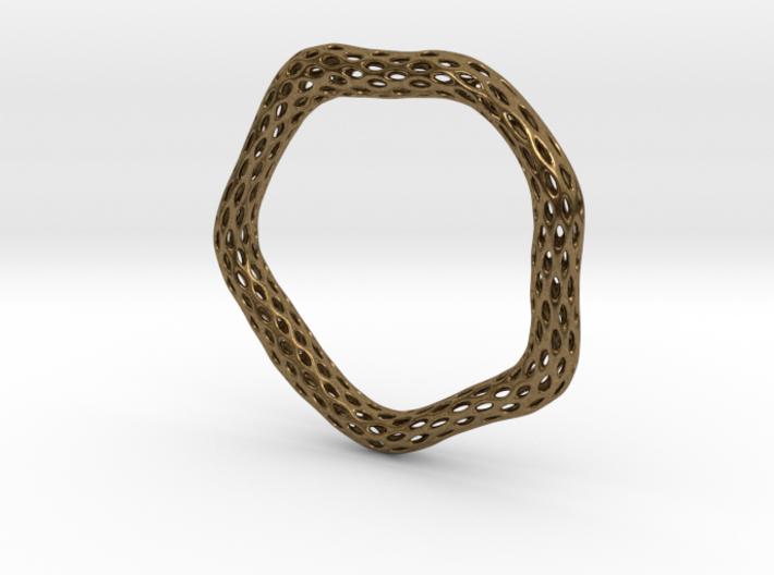 Irregular Bracelet (Size M) 3d printed