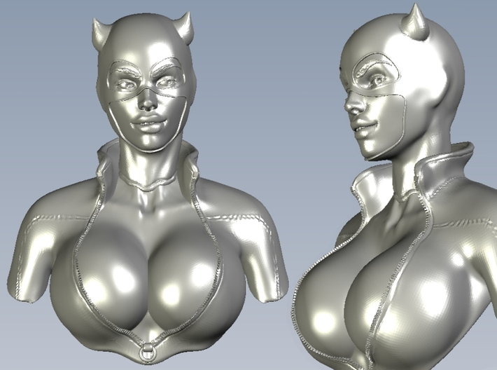 1/9 scale Catwoman superheroine bust 3d printed