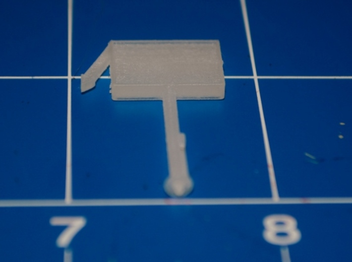 N-Scale Restaurant Sign w/ Arrow 3d printed Production Sample