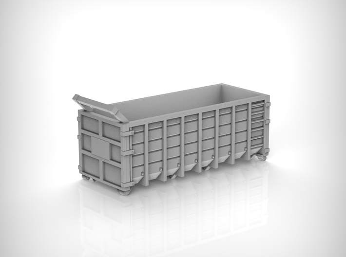 Steel Waste Container 01. 1:72 Scale 3d printed
