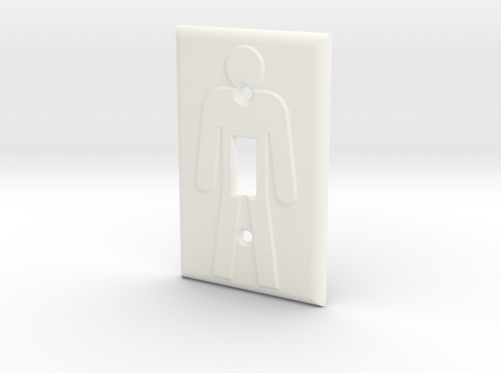 On/Off Light Switch Plate 3d printed