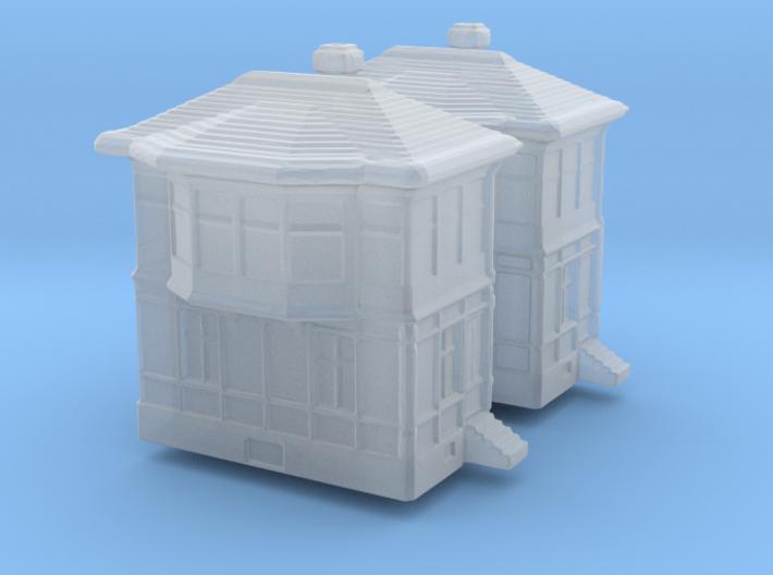 Railway Signal Tower (x2) 1/500 3d printed