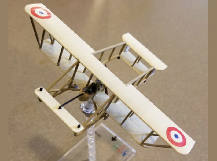 """Maurice Farman M.F.7 """"Longhorn"""" (various scales) 3d printed Photo and paint job courtesy David """"Clipper1801"""" at wingsofwar.org"""