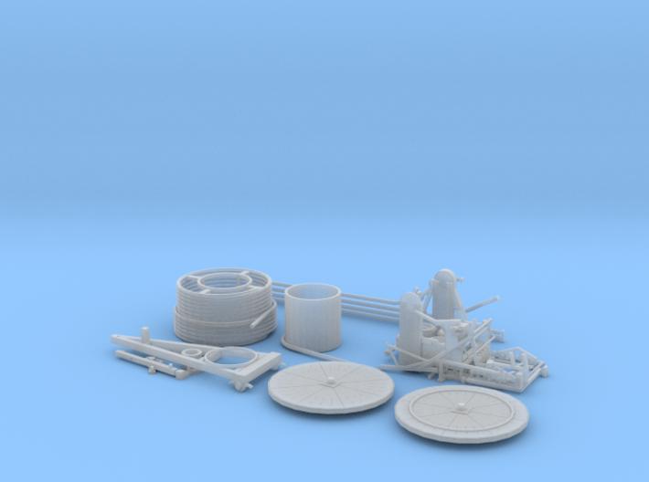 HO/1:87 Hose reel irrigation system kit 3d printed