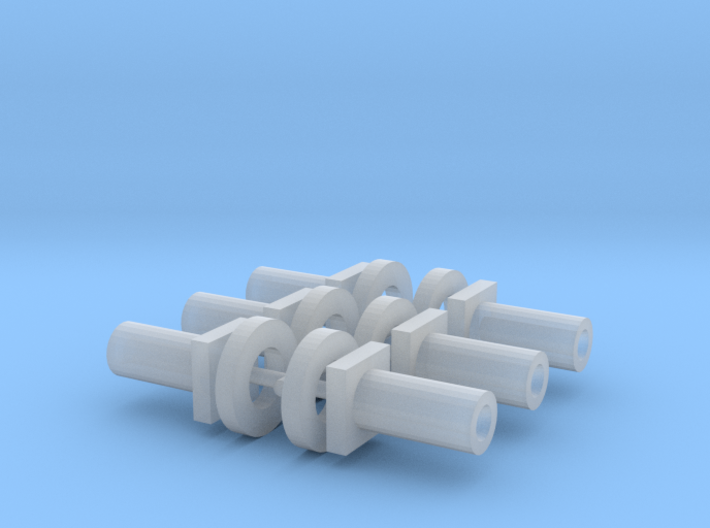 Bachmann N Scale - Chassis Fasteners & Washers x6 3d printed