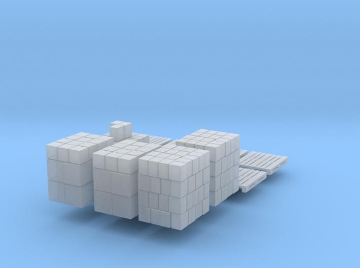 Gestapelte Pappkartons (N 1:160) 3d printed