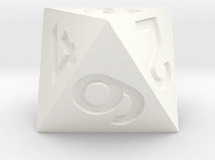 Standard d8 3d printed