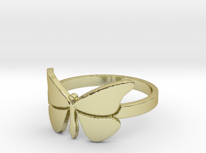 Butterfly (large) Ring Size 10 3d printed