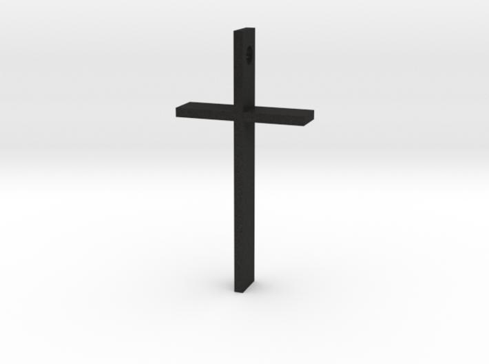 "Simple Cross Slide Pendant (2"" x 1"") 3d printed"
