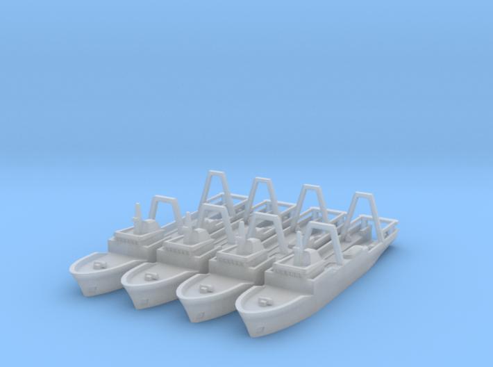 Stern Trawlers (2) x4 1/1800 3d printed